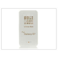 Haffner Samsung SM-E700 Galaxy E7 szilikon hátlap - Ultra Slim 0,3 mm - transparent