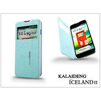 Kalaideng LG L90 D405 flipes tok - Kalaideng Iceland 2 Series View Cover - turquoise blue