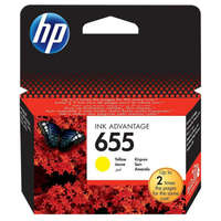 HP 655 yellow CZ112AE festékpatron - eredeti Deskjet Ink Advantage 3520, 3525, 4610, 4615, 4620, 4625,