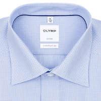c82c921006 OLYMP Luxor comfort fit kék apró kockás rövid ujjú ing