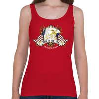 6842ba9703 printfashion Született az USA-ban - Női atléta - Cseresznyepiros
