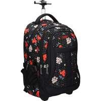 67b70fca46f5 Eurocom d.o.o Street hátizsák, 2019, trolley, fekete, virágos, Daisy